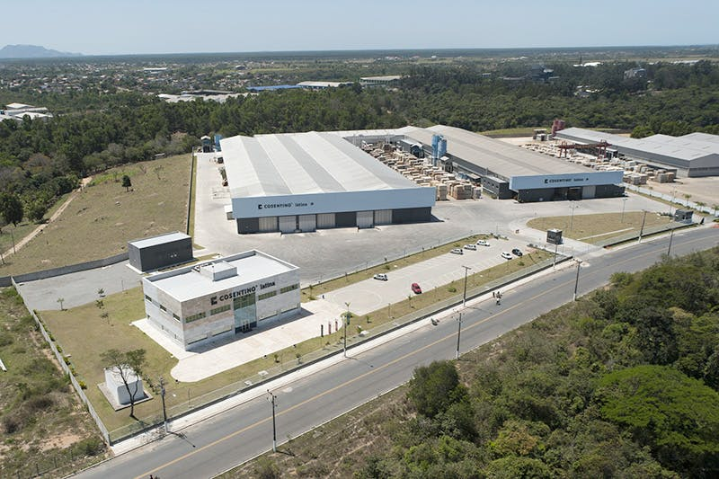 the only factory the group has outside of its industrial park in almeria spain is its factory in brazil cosentino latina the groupus